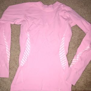 Pink Helly Hanson athletic shirt